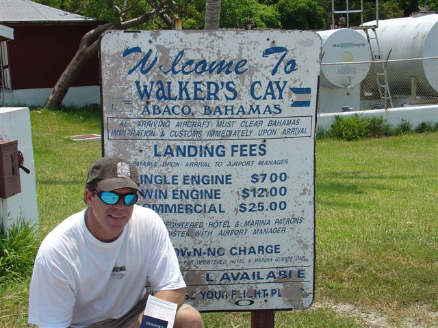 Capt Mark at Walkers Cay, Bahamas